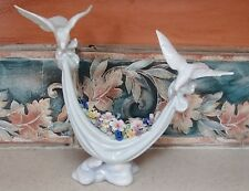 "Lladro #6579 ""Petals of Peace"" doves and colorful flowers - Good,no box,Rv$555"