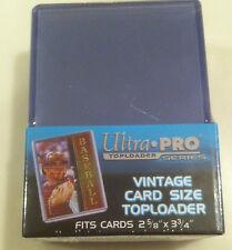 """NIP Ultra Pro Box of 25 Vintage Toploaders Plastic Card Sleeves 2 5/8 x 3 3/4"""""""
