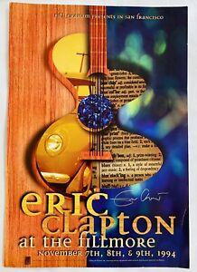 Eric Clapton Original. At The Fillmore, San Francisco Concert Poster (signed)