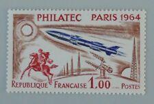 France 1964 1422 sans vignette neuf quasi luxe ** infime trace de doigt