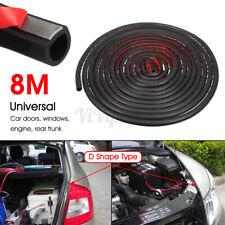 26.24ft/8M D Shape Rubber Sealing Weather Strip Hollow Car Door Moulding