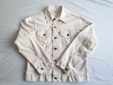 Vintage 1970's Levis 70505 3rd Trucker Jacket, White/Beige Cotton Pique
