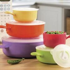 10pc Microwave Food Container Multicolour- Pot  Food Bowl Set with Lids STORAGE