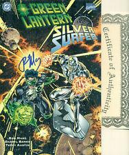 Green Lantern Silver Surfer Unholy Alliances #1 Thanos Marz Signed wCOA NMM 1995