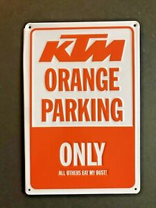 KTM Orange Parking Only Sign Man Cave Garage