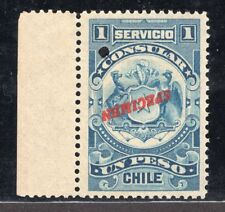 206 CHILE CONSULAR REVENUE TWO STAMP SPECIMEN MNG