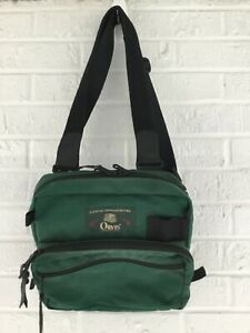 ORVIS LARGE FISHING CHEST PACK TACKLE GREEN FLY FISHING ZIPPER GEAR BAG USA VG+