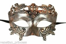Mens Masquerade Mask Roman Gladiator Venetian Warrior Mask Rustic Bronze GM001BR