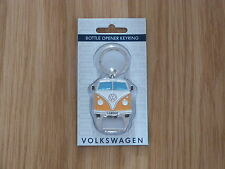 VW CamperVan Bottle Opener Keyring Orange Officially Licensed by Volkswagen NEW