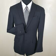 *EXPRESS PEAKED LAPEL SPORT COAT CHARCOAL GRAY STRIPE 2 BUTTON SIDE VENTS 38REG.