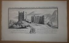 ANTIQUE PRINT THE SOUTH-EAST VIEW OF BROUGH- CASTLE WESTMORLAND 1739 S & N BUCK