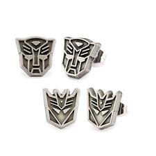 Transformers Autobot & Decepticon Logo Stainless Steel Post Stud Earrings Set