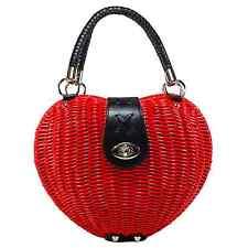 Voodoo Monroe Wicker Heart Bag Handbag Rockabilly Retro Purse Vintage Pin Up