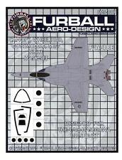 Furball Decals 1/48 BOEING F/A-18E HORNET Canopy & Wheel Hub Vinyl Mask Set