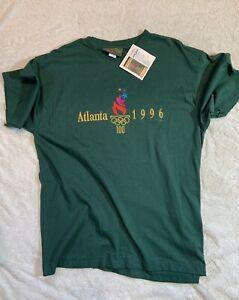 VTG NWT 1996 Atlanta Olympics Hanes Polo Shirt XL Green Cotton