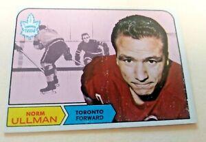 1968-69 topps #131 Norm Ullman Toronto-Detroit HoFer Nr Mint