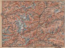 ST GOTTHARD area. Andermatt Engelberg Silenen Gadmen Ulrichen Disentis 1893 map