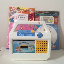 Vintage 80s Care Bears Cassette Tape Player With Extras - Rare Toy - Works Great