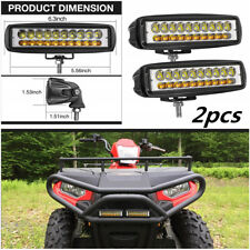 """2pc 6.3"""" INCH 60W LED Work Light Bar Flood Combo Driving OffRoad Tractor 4WD SUV"""