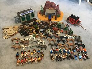 PLAYMOBIL Huge Vintage Western Bundle of Cowboys and Indians Native Americans