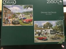 RARE , MG  JIGSAWS  2 x 500  ,USED , DRIVING IN DALES, FALCON DE LUXE,  USED ,