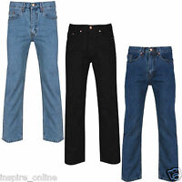 NEW MENS ADULTS STRAIGHT LEG BOYS WORK BRANDED STRETCH FASHION DENIM JEANS SIZES