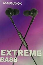Magnavox MHP4857 In-Ear Silicon Earbuds with Extreme Bass - Black