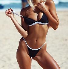 Women Bra Push-up Padded Bandage Bikini Set Swimsuit Triangle Swimwear Surfing