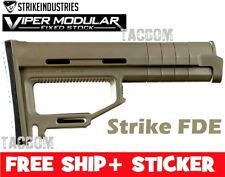 Strike Industries Viper Modular Fixed Stock FDE Adjustable Shims Customizable