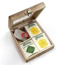Caja de madera para organizar tè y infusiones, Envio a toda España