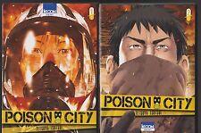 POISON CITY tomes 1 et 2 Tetsuya Tsutsui manga seinen SERIE COMPLETE