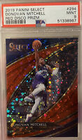 2019 Panini Select #294 Red Disco 36/49 Donovan Mitchell Utah Jazz PSA 9 MINT