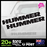 2x HUMMER Side body hood fender bonnet logo sticker decal 580x61mm