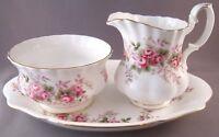 Royal Albert Lavender Rose Bone China Mini Creamer, Open Sugar Bowl & Tray Set