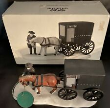 Vtg Department 56 Heritage Village:Collection Amish Buggy Horse Nib 1989 Retired