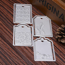 4Pc Label Tag Metal Cutting Dies Stencils DIY Scrapbooking Album Paper Decor