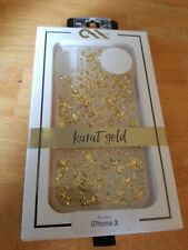 Case-Mate iPhone X Karat Series Case Gold Glitter Clear - NEW