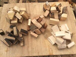 Mixed box BBQ smoker wood chunks Alder, chestnut, Beech, Hazel ,barrel oak