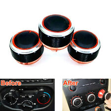 Inner Air Condition A/C Heat Control Knobs Switch Aluminum Panel Fit for 206 207