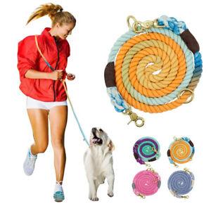 Cotton Hands Free Leash for Dogs Running Belt Lead Crossbody & Waist Adjustable