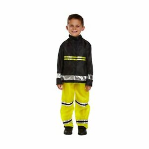 Boys Fireman Fancy Dress Costume Dressing Up World Book Day Outfit New