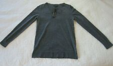 Banana Republic Womens Sweater Size XS Gray 100% Merino Wool V Neck