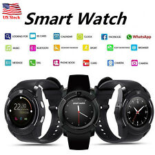 Bluetooth Smart Watch with Camera Pedometer Sync SMS Call for Android Samsung LG