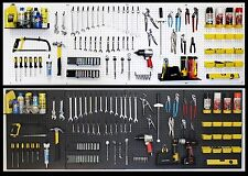 WallPeg pegboard panels, shelves, bins, locking peg hooks - Choice black - white