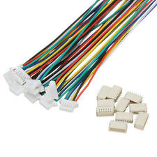 10 Sets Mini Micro JST 1.0mm SH 6-Pin Connector Plug With Wires Cables