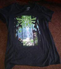The Legend of Zelda A Link Between Worlds Black T-shirt Women Tee Size XL