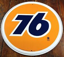 """UNION 76 GAS & OIL COMPANY OFFICIALLY LICENSED PRODUCT 11 3/4"""" ROUND METAL SIGN"""