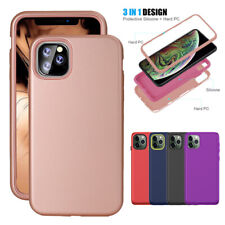 For iPhone 11 Pro Max New Shockproof Protective Hybrid Bumper Rubber Case Cover
