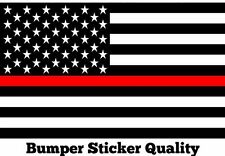 3- 3x5 Thin Red Line Fire Fighter FireFighter Chief Flag Respect Decal Sticker