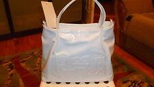 "NWT FERRE Milano ""Linea Figaro Ferre"" Italy polyurethan patent handbag in white."